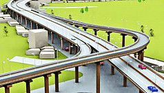 Dhaka-Ashulia elevated expressway work...