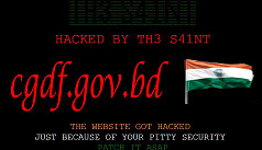 Indian hackers take down Bangladesh...