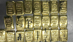 Gold worth Tk1.25cr seized at Dhaka...