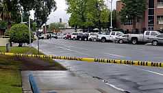 Gunman targeting white men kills three...
