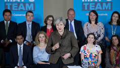 Poll: British PM's Conservatives open...