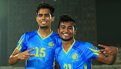 Abahani youngsters Saad, Rubel show...