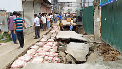 Road collapses in Green Road area