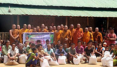 Monks stand by starving Sajek villagers
