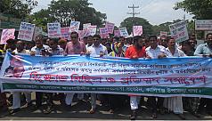 Kaliganj people protest local REB's...