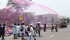 MATS students clash with police in...