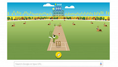 Google ups doodle game for ICC Champions...