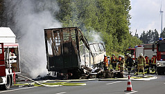 At least 17 feared dead in bus accident...