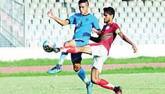 Bangladesh U-23 beat Abahani in practice...