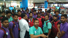 Bangladesh U23 football team arrive...
