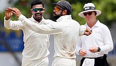 Ashwin, Jadeja complete India's thumping...