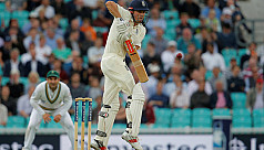 Cook stands firm for England in 100th...