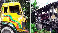 Bogra bus-truck collision leaves three...