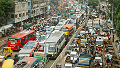 WB: Dhaka's average traffic speed...