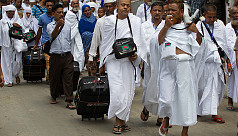 First return Hajj flight of Biman lands...