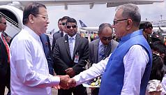 Sri Lankan President Sirisena arrives...