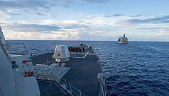 US destroyer challenges China's claims...