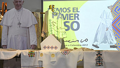 Pope heads to Colombia to anoint peace...