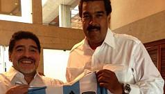 Maradona defends Venezuela...