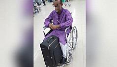 Man on wheelchair carrying 25kg gold...