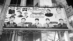 Posters defaming Mourning Day flood...
