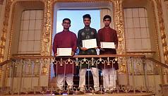 Bangladeshi students awarded in Stockholm...