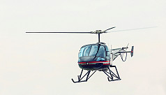 Wedding party lands chopper in Kashimpur...