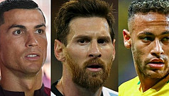Ronaldo, Messi and Neymar on Fifa player...
