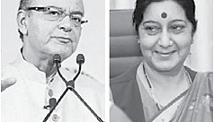 Indian foreign and finance ministers...
