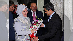 Turkish First Lady arrives in