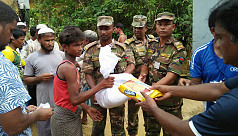Army joins relief distribution for Rohingya...