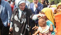Turkish First Lady visits Rohingya refugee...