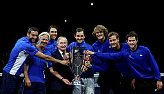 Federer leads Team Europe to victory...