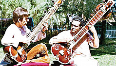 Harrison's sitar going up for...