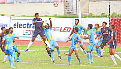 Chittagong Abahani, Saif Sporting fire...