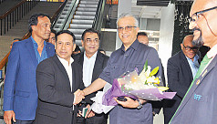 AFC president Sheikh Salman arrives...