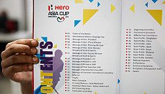 Asia Cup Hockey: 80-page programme book...