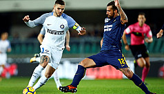 Inter stay in touch at top with Verona...