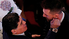 Diego Maradona: Giving FIFA award to...