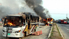 Two buses torched in Feni as Khaleda's...