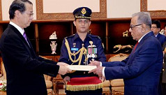 New Japanese envoy presents credentials...