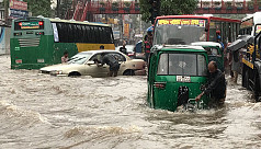 Dhaka commuters suffer as storm causes...
