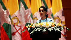 Myanmar's Suu Kyi urges nation to stay...