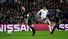 Spurs stun Madrid, join Man City in...