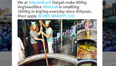 Ajmer Sharif Dargah says they cook 2,400...