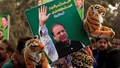 Pakistan's ex-PM Nawaz Sharif appears...