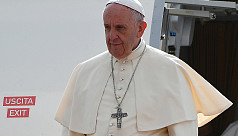 Pope Francis accorded red carpet...