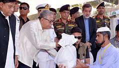 Bangladesh president visits Rohingya...
