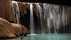 Turquoise waterfalls dry up after Mexico...