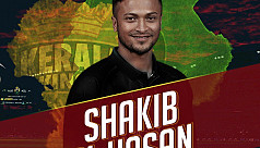 Shakib dismissed for duck as Kerala...
